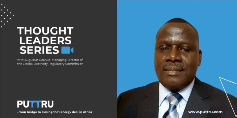 Augustus Goanue, MD, Liberia's Electricity Regulator